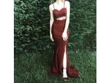 Abiye Bordo Elbise